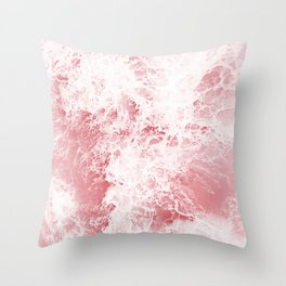 pink ocean Throw Pillow