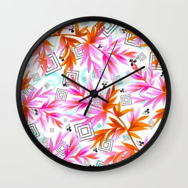 Plants, geometric and abstract Wall Clock