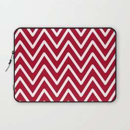 Chevron Wave Red Dark Raspberry Laptop Sleeve