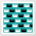 Mid Century Modern Abstract Flowers Teal by zennykenny