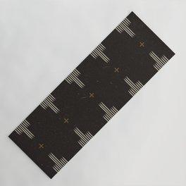 Southwestern Minimalist Black & White Yoga Mat