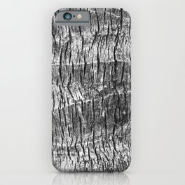 gray wood grain texture biophilic wood nature print iPhone Case