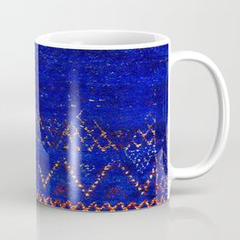 -A5- Royal Calm Blue Bohemian Moroccan Artwork. Coffee Mug