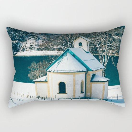 Achensee Winter Lake Church Rectangular Pillow