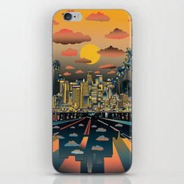los angeles city skyline iPhone Skin