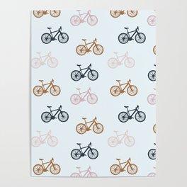 Bike pattern Poster