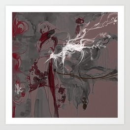LOTUS - CRANE Art Print