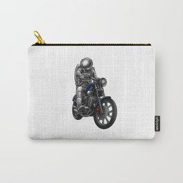 Astronaut on Motorcycle - Space Biker Spaceman Carry-All Pouch