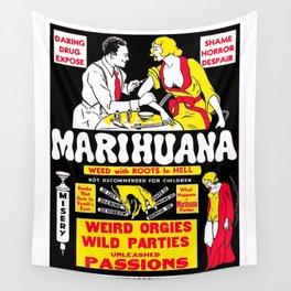Marijuana Poster (Reefer Madness) Wall Tapestry