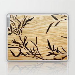 Japanese bamboo buddha wood art Laptop & iPad Skin