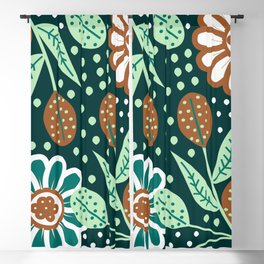 Floral wonderland Blackout Curtain
