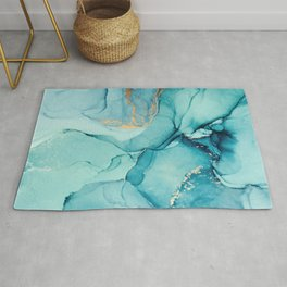 Abstract Turquoise Art Print By LandSartprints Rug