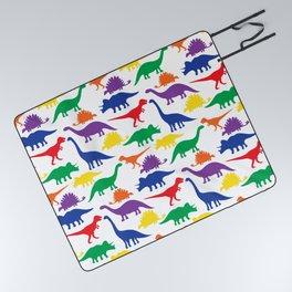 Dinosaurs - White Picnic Blanket