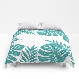 Paradise in Aqua Comforters