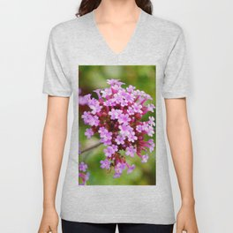 Purple Flower Unisex V-Neck