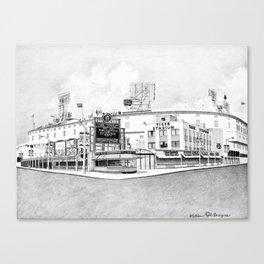 Old Tiger Stadium   Detroit Michigan Canvas Print