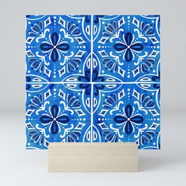 Sevilla - Spanish Tile Mini Art Print