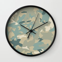 Camouflage military background Wall Clock