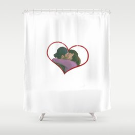 Lorelai and Luke Shower Curtain