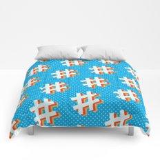 Hashtag (comic style) Comforters