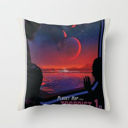 NASA Visions of the Future - Planet Hop from Trappist-1e Throw Pillow