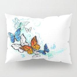 Artistic Morpho and Monarchs Pillow Sham