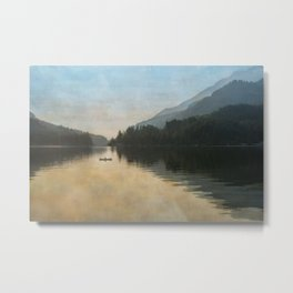 Lake Sutherand Sunset Metal Print