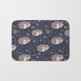 foxes and the autumn Bath Mat