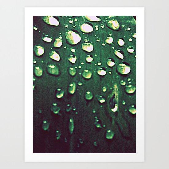 Riding Out the Rain Art Print