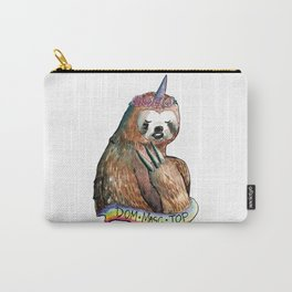 sloth unicorn dom masc top rainbow Carry-All Pouch