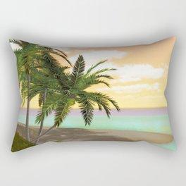 Dreamy Desert Island Rectangular Pillow