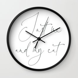 Just me and my cat Duvet Cover Gift fit for a Queen Wall Clock