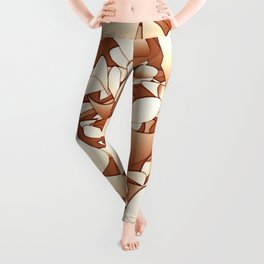 Pattern brown 156 Leggings