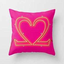 It Takes Two - Neon Throw Pillow