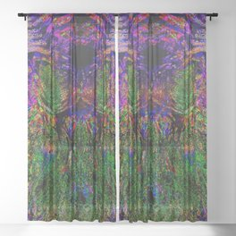 Inside the Painting Sheer Curtain