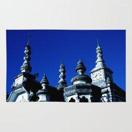 Temple on Blue  Rug