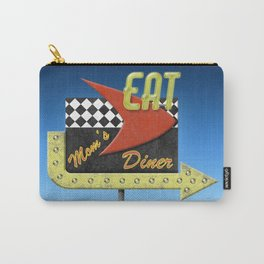 """""""Mom's Diner"""" Retro '50s Diner Sign Carry-All Pouch"""