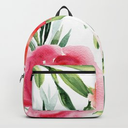 Bright Flowers with Green Leaves Backpack