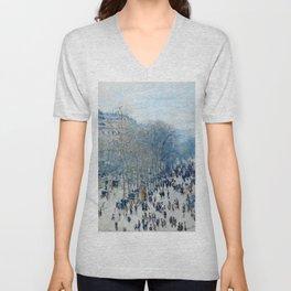 Claude Monet - Boulevard Des Capucines Unisex V-Neck
