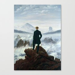 Wanderer above the Sea of Fog Painting by Caspar David Friedrich Canvas Print