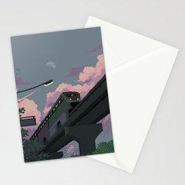 Moonrise Train Stationery Cards