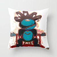 game of thrones Throw Pillows featuring Game Of Cats ! 2 by Davoncornchip