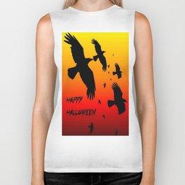 Happy Halloween Murder of Crows  Biker Tank