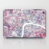 london map iPad Cases featuring London map by MapMapMaps.Watercolors