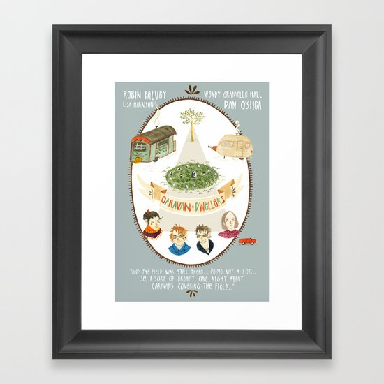 Caravan Dwellers Framed Art Print