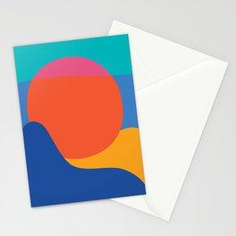 Mid Century Wall Art Black and White Mid Century Modern Art Print Retro Art Print Geometric Minimal Stationery Cards
