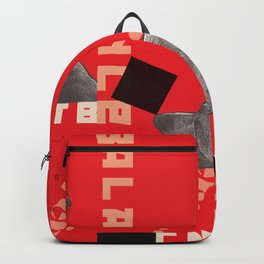 Constructivist Weimaraner Balancing Black Cube Backpack