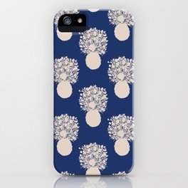 Pineapple Cut Out - Classic Blue And Sand Beige iPhone Case
