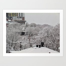 March Snow in Portland, Maine (4) Art Print