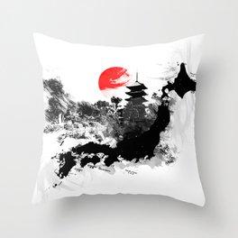 Abstract Kyoto - Japan Throw Pillow